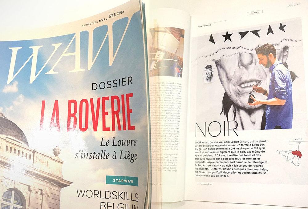 waw  magazine - NOIR artist
