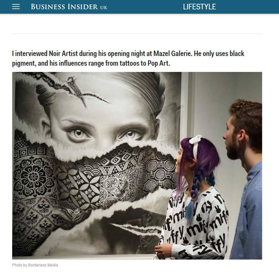 business insider magazine - NOIR artist