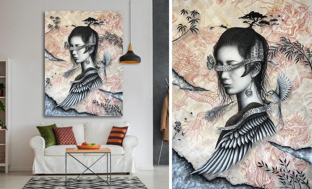 Red Dragon - 190 x 140 cm - Acrylic on canvas