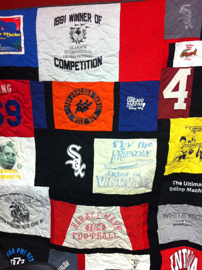 Certificate for a custom quilt by Marcia Gienapp (photo is of the winner's quilt from last year).