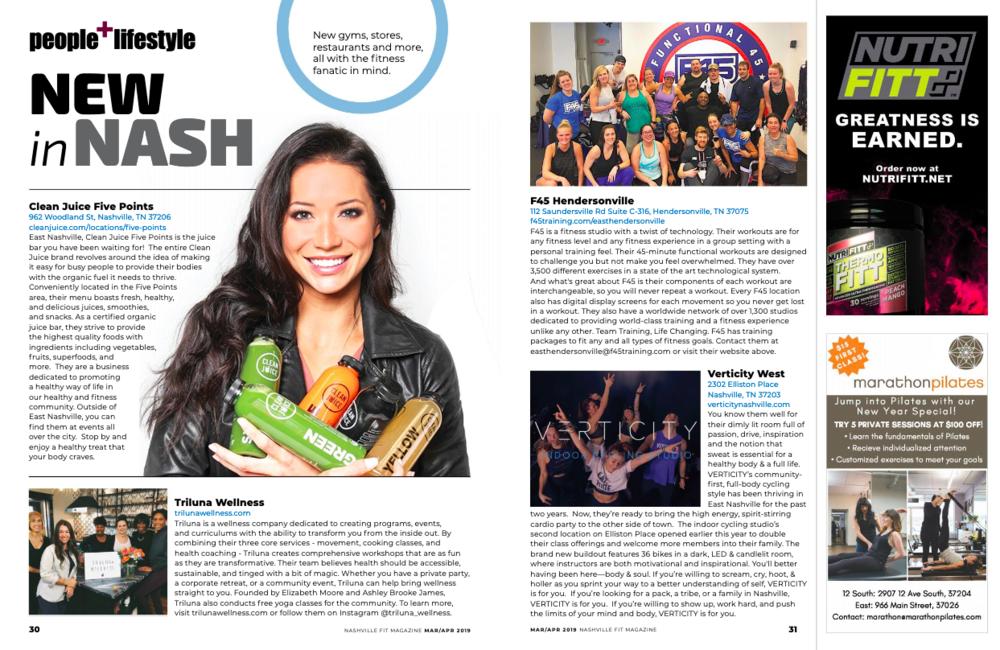 Nashville Fit Magazine Feature for TRILUNA