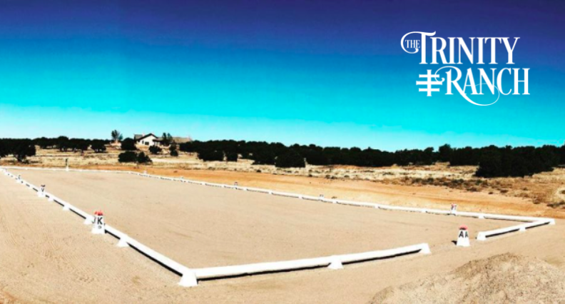 USDF regulation-sized dressage arena