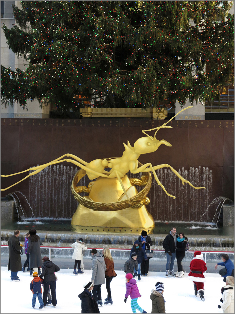 GOLDEN IDOL, Study for Rockefeller Center