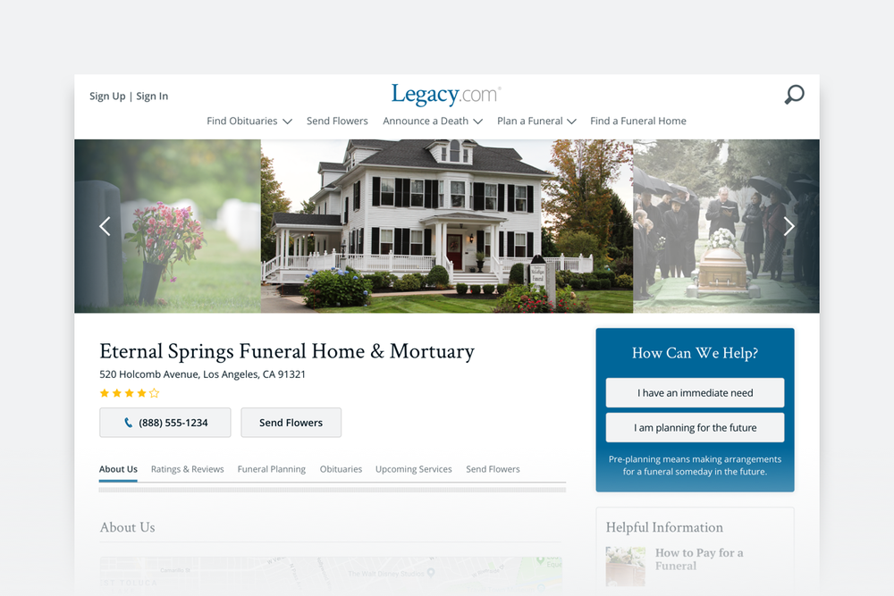 Legacy.com End of Life Planning -