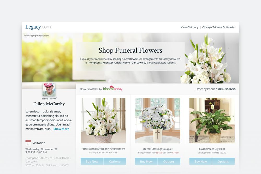 Legacy.com Flower Store -