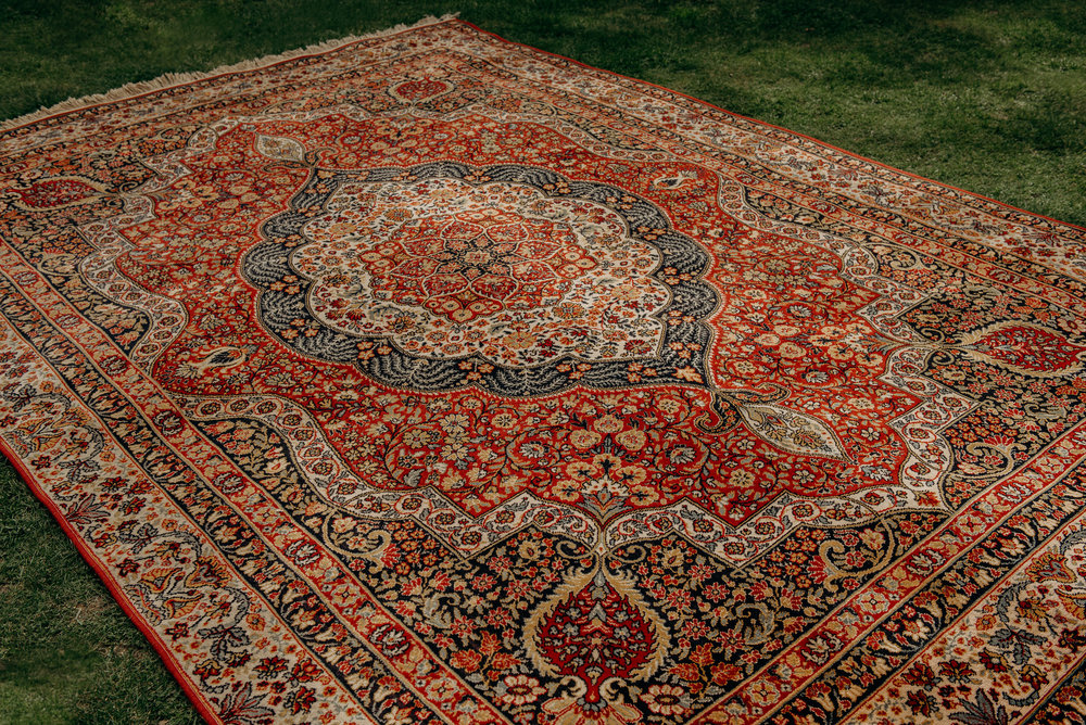 Extra Large Red Gold Persian Rug The Wedding Room