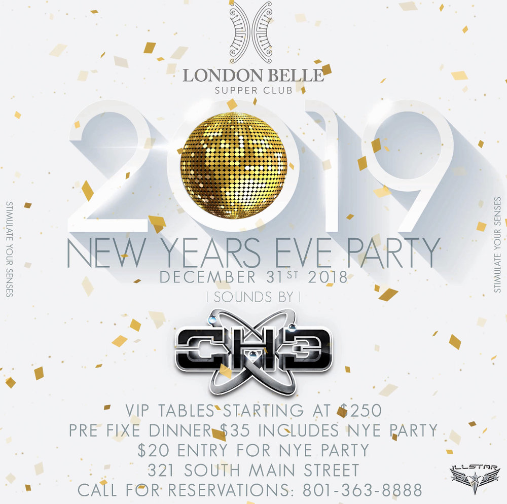 JOIN US AS WE RING IN THE NEW YEAR! HURRY RESERVATIONS ARE FILLING UP FAST, RESERVE YOUR TICKETS TODAY!