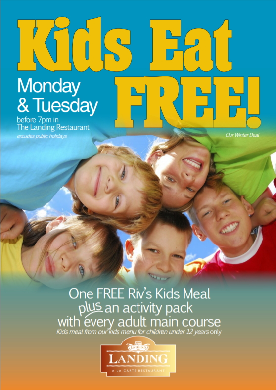 Kids Eat Free in The Landing! Let us cook your family dinner tonight!