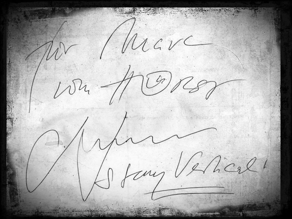 """Hier das Autogramm verpackt in einen """"schöneren"""" Rahmen :)"""