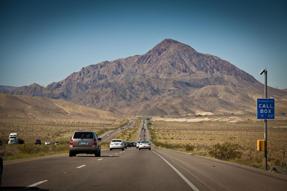 Interstate 15 auf dem Weg nach Süden Richtung Kalifornien