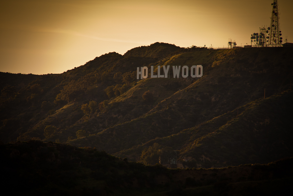Hollywood Buchstaben über Hollywood