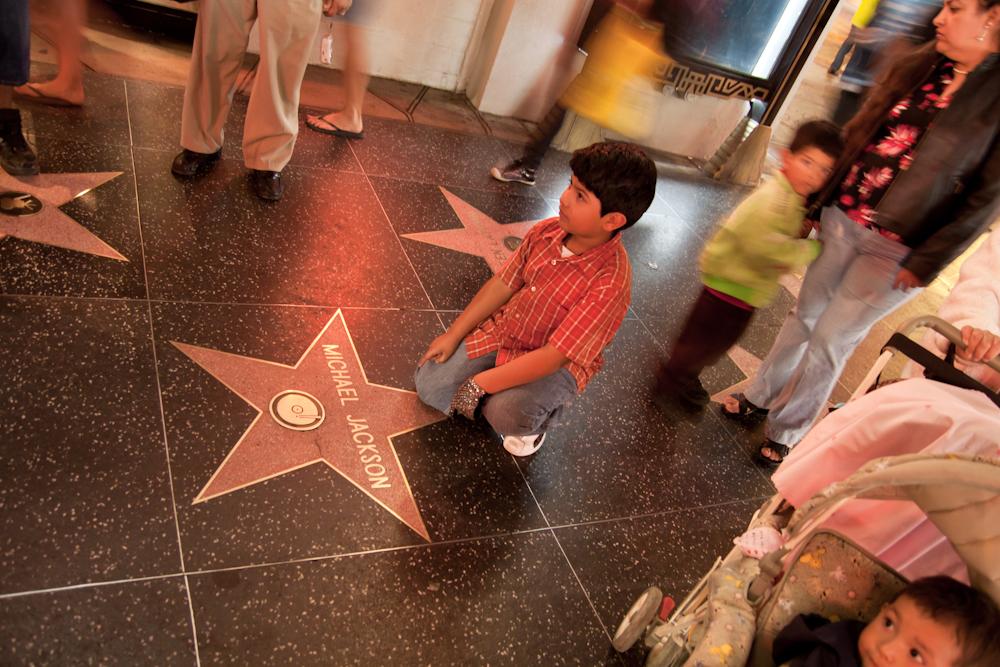 Der Stern von Michael Jackson - hier war fast am meisten los :)