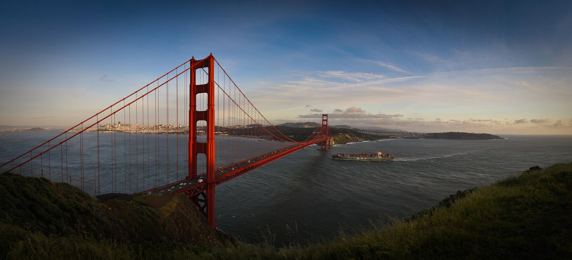 Golden Gate Bridge San Francisco, 17mm, ISO 100, Blende f6,3, Belichtung 1/160s