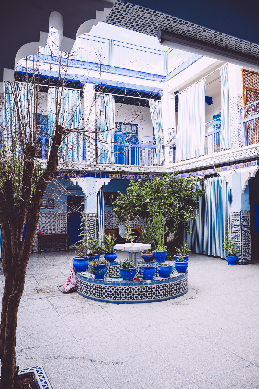 Jüdische Synagoge in Mellah - Marrakech