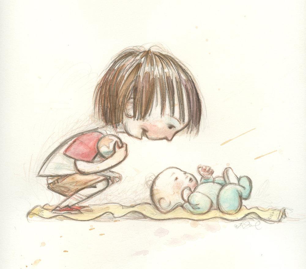 pencil & watercolor