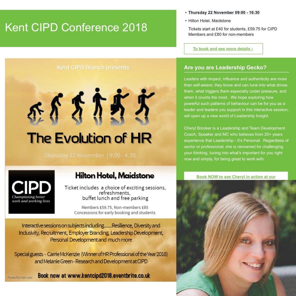 Kent CIPD - The Evolution of HR November 2018