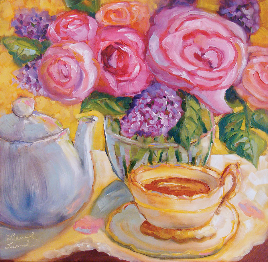 "Morning Tea, 12"" x 12"""