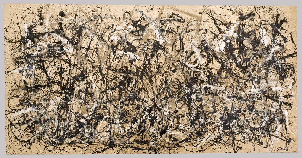 Pollock's 'Autumn Rhythm'  continues to resonate with audiences, despite it's seemingly random composition.