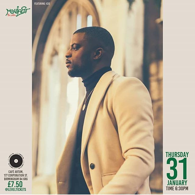 """I'll be supporting this guy @iciemusic on the 31st at the @gl360media Manifest event!  _______  Manifest """"An evening with ICIE""""  Support: N.EE.H & @michaelpersonne  Date: Thursday 31st January 2019 Door Open: 6.30pm  Venue: Café ARTUM, 177 Corporation Street, Birmingham B4 6RG Price: £7.50 (limited amount of tickets)  Buy Your Ticket: TBC  GL360 Media one of Europe's Leaders in Gospel Music is bringing the 3rd instalment of it's creative platform """"Manifest"""", in our home venue Café Artum where we will be bringing you creatives in an intimate environment. We will be bringing the lyricist from London """"ICIE"""" after the release of his highly rated 1st solo album """"Moment of Clarity"""", we will bringing a close up event to get to know him more; he will be also supported by Michael Personne with the release of his new single """"Elegy"""" and a young singing talent N.EE.H ."""