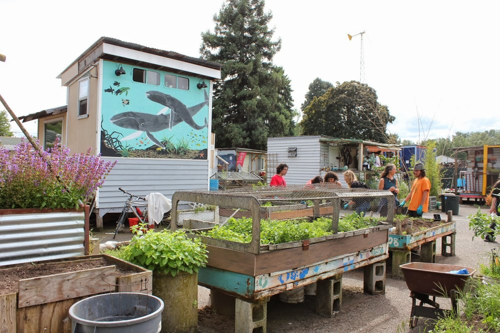 Dignity Village, Portland Oregon. A legal self-organized eco-village that has been in operation since 2001.