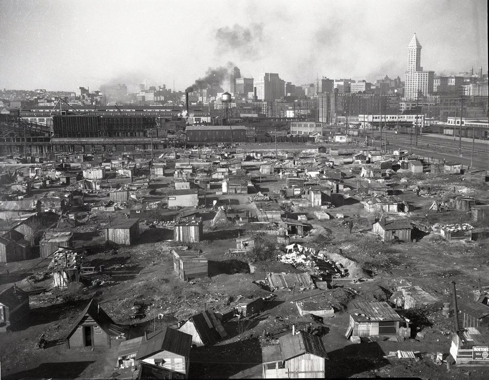 One of Seattle's Hoovervilles 1937