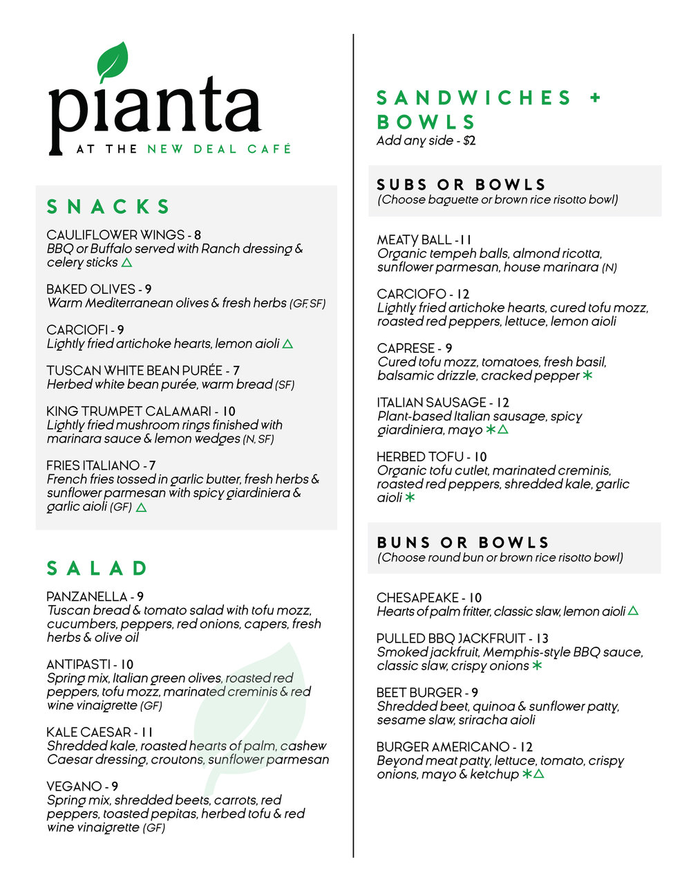 Pianta Menu Page 1 - Cafe - August.jpg