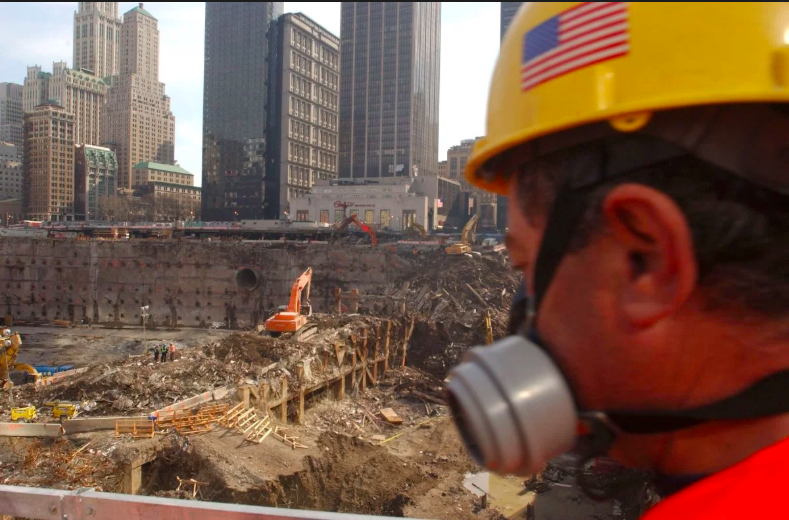 Undocumented rescue worker at Ground Zero, 2001.