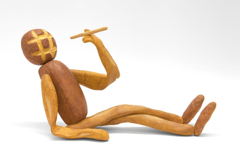 Matt Johnson,  Bread Figure (Reclining) , 2017