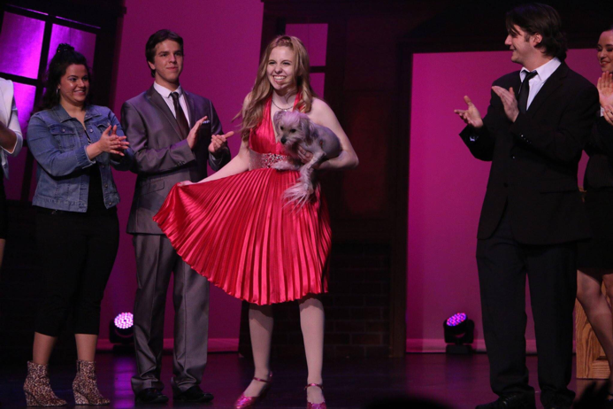"""Lauren Fuoco   with cast from """"Legally Blonde""""."""