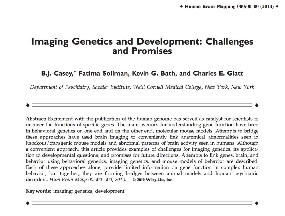 Casey et al., 2010.     Human Brain Mapping.