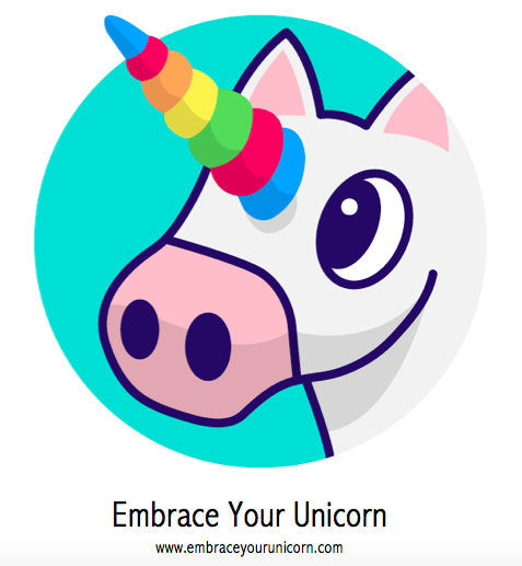 """My favicon unicorn thinks to herself, """"Do I  really have to embrace my unicorn?"""""""