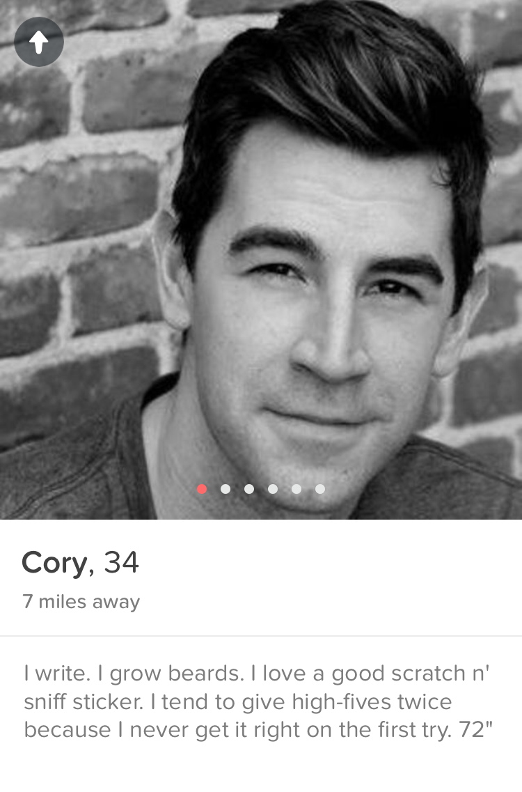 Cory's never-before-seen Tinder profile!