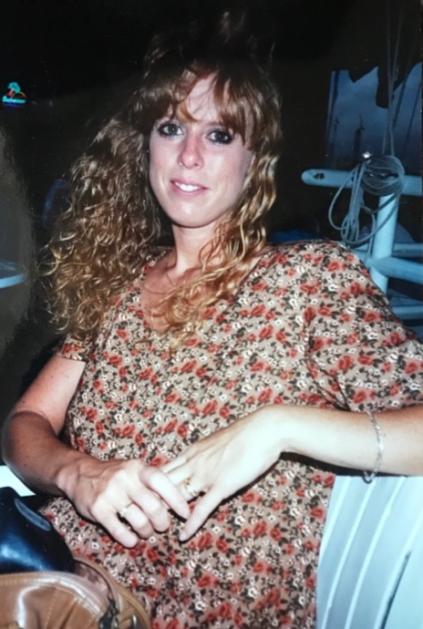 Me in my 1990s perm bliss. Also not fat here either, though I sure felt it (so sad, so warped).