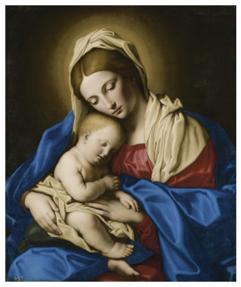 Madonna and Child, Giovanni Battista Salve (II Sassoferrato) (Itallian, 1609-1695)  Photo Credit:  here