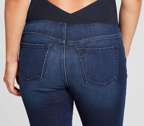 Target - Maternity Crossover Panel Skinny Jeans – Isabel Maternity by Ingrid & Isabel™ Dark Wash