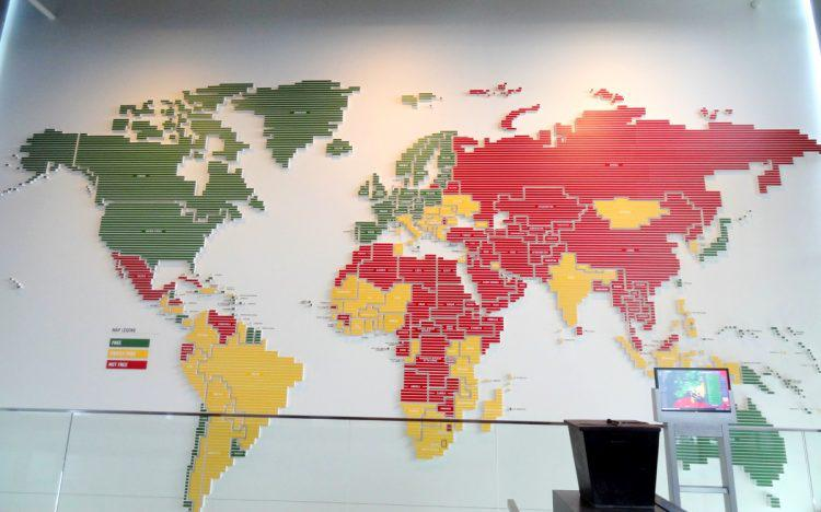 Newseum, Press Freedom Map