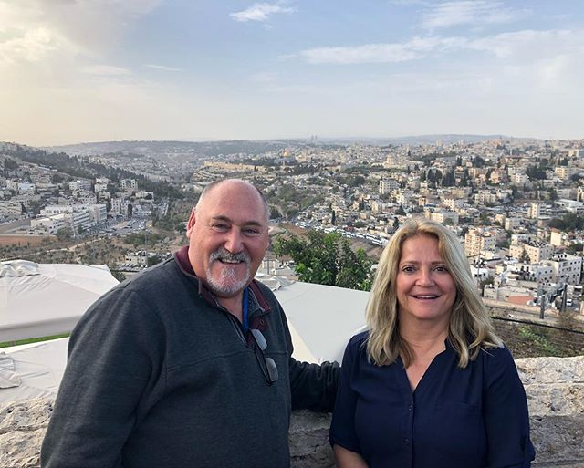 Having a wonderful time in Israel on the Passion Translation Tour with @briansimmons4797 and @candysimmons