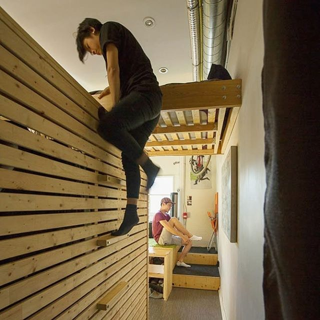 Did you know we used to live at Makeshift? Before its current form, it was a live/work studio with loft beds to maximize space. Check out @alexmchong's bedroom from when he lived there.  #studio #toronto #coworking #igerstoronto #makerspace #collective #wemakeshift #TBT #makeshift #woodworking #torontowoodworking #makersmovement #handmade #creativeliving #livework