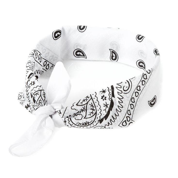 White Bandana- $5.50