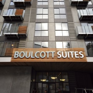 BOULCOTT SUITES $$$   A five-star apartment hotel furnished with everything you could need!  Apartments from $245 per night.  450m from the Michael Fowler Centre.