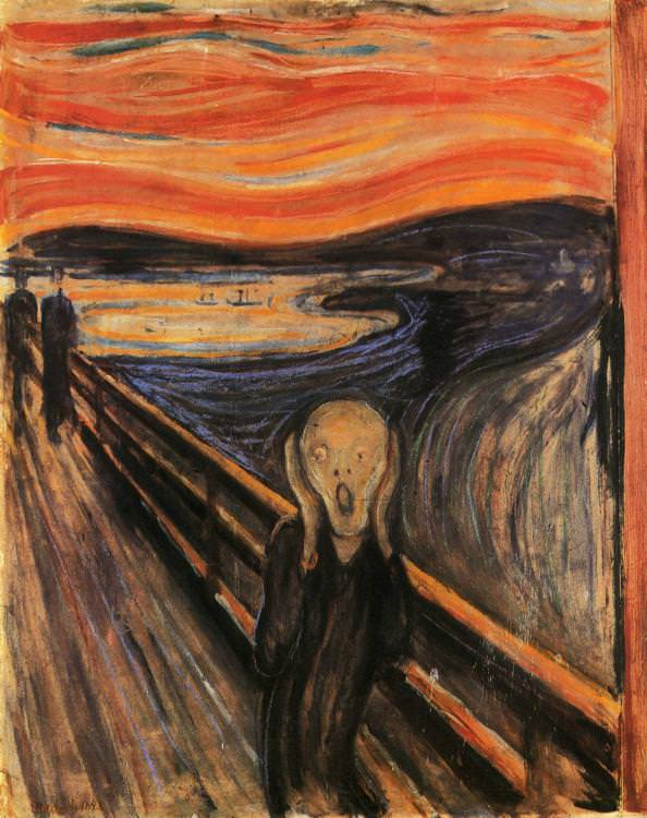 The Scream  by Edvard Munch, Source: https://www.edvardmunch.org/the-scream.jsp