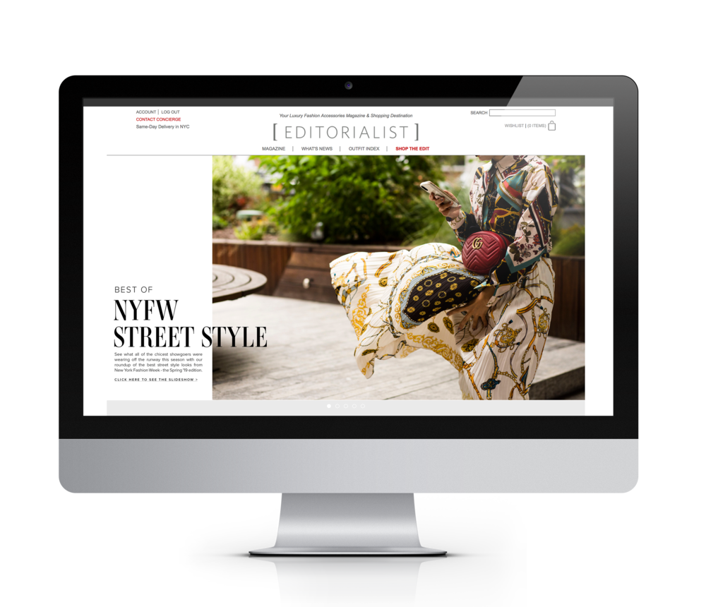Editorialist home page marquees