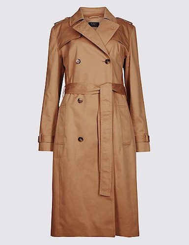 Marks & Spencer cotton trench, $150