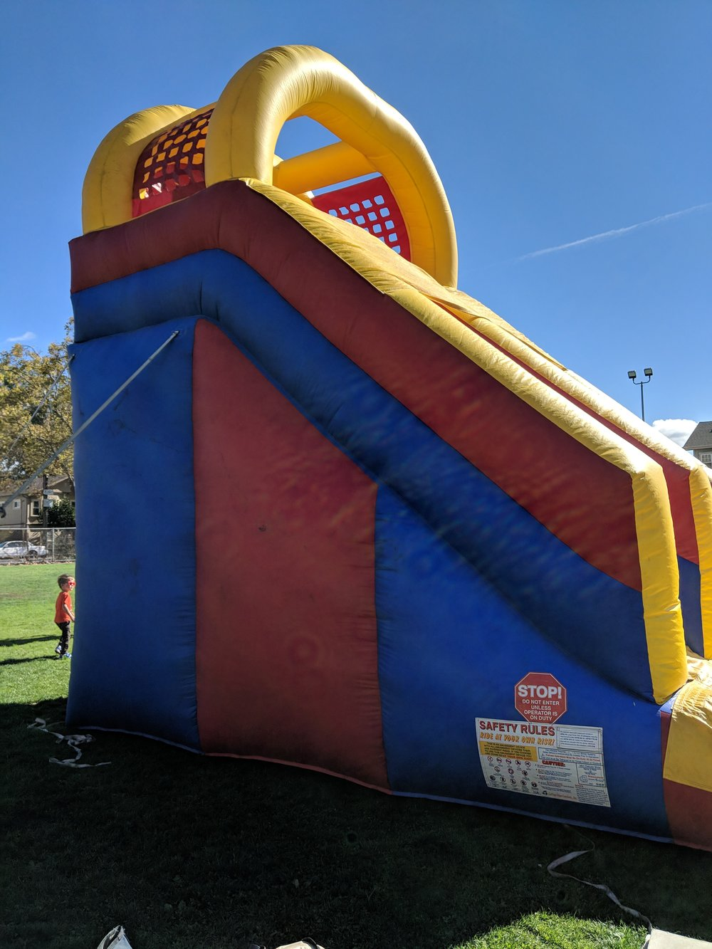 Rosa Parks' giant bouncy slide. The fun to be had is worth signing the liability waiver for!