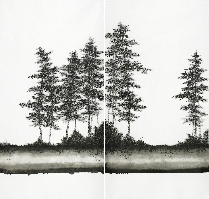 Bo Mi Kim_LISTEN FOREST 2018_2_2018_Ink on paper_153x144cm.jpg