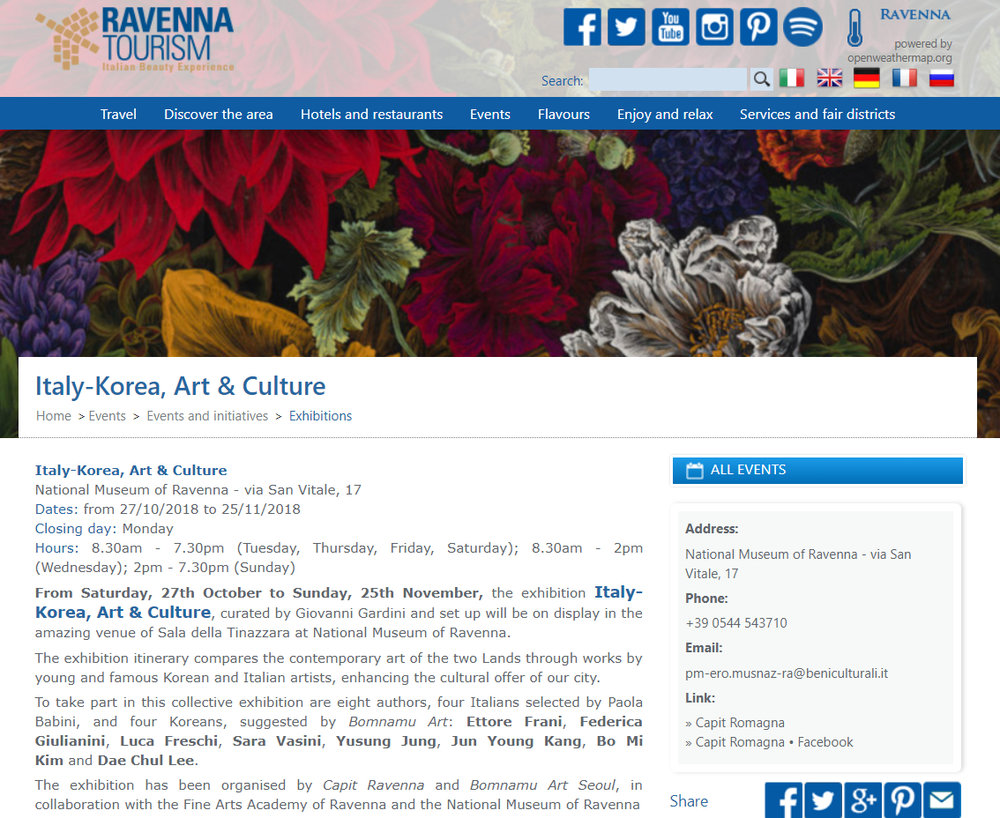 http://www.turismo.ra.it/eng/Events/Events-and-initiatives/Exhibitions/Italy-Korea_-Art-_-Culture