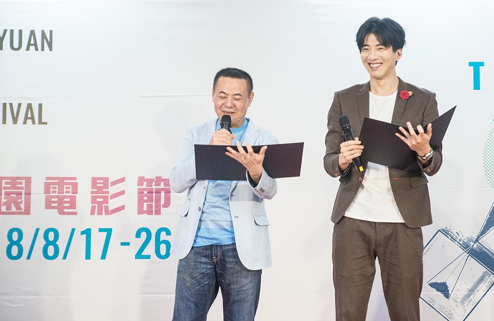 影展大使蔡振南、傅孟柏共同宣布台灣獎入圍作品