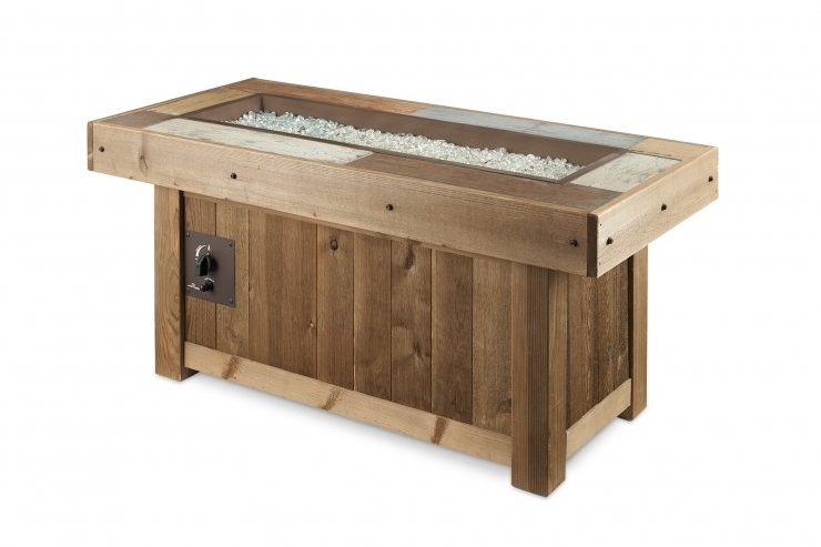 Outdoor GreatRoom Co. | Vintage Linear Gas Fire Pit Table -