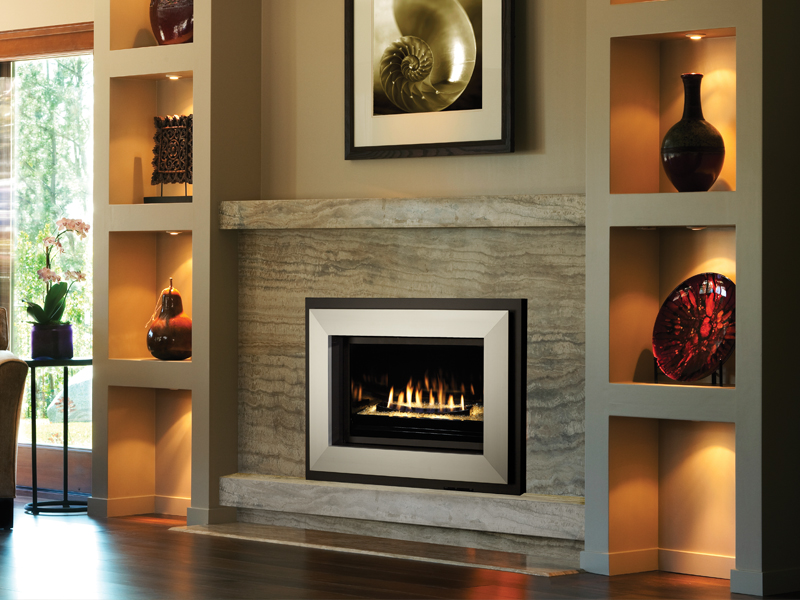 Fireplace Xtrordinair's Diamond-Fyre gas fireplace, available at Ferguson's Fireplace & Stove Center in Traverse City, Michigan.