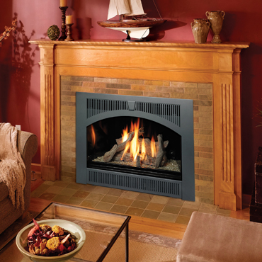 Lopi 864 High Output gas fireplace.